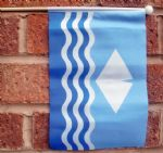 ISLE OF WIGHT - HAND WAVING FLAG (MEDIUM)